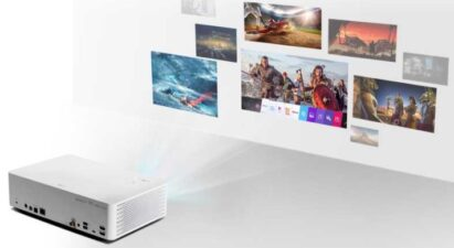 LG CineBeam projects images of the user-friendly webOS smart platform that allows users to use different services during viewing