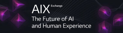 Banner for the AIX Exchange's digital report titled 'The Future of AI and Human Experience'