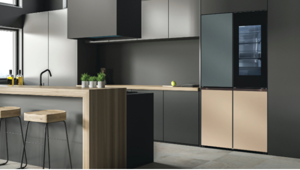 A photo of LG's Furniture Concept Appliances giving a modern and luxurious look to a kitchen.