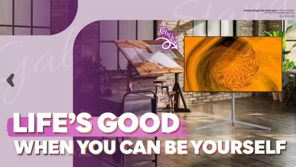 A screenshot from the Life's Good campaign website's home page.