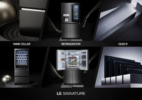 Pictures of the LG SIGNATURE Wine Cellar, Refrigerator and OLED R which are expected to revolutionize consumers' lives through high-end technology.
