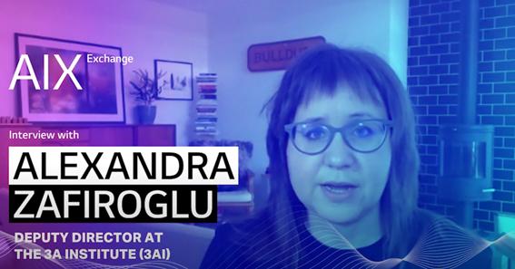 A photo of Alexandra Zafiroglu, deputy director at the 3A Institute
