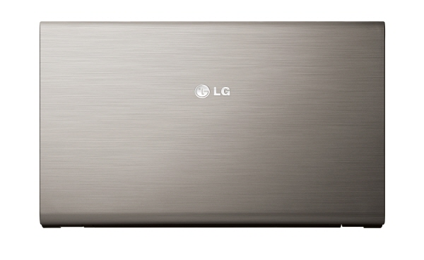 Birds-eye-view of the LG A510 laptop in Champagne Gold