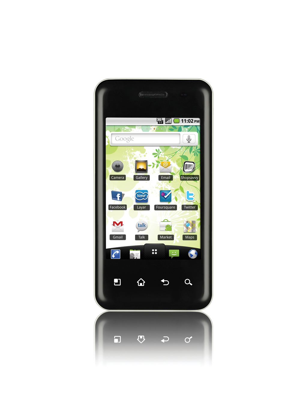 Front view of the LG Optimus Chic