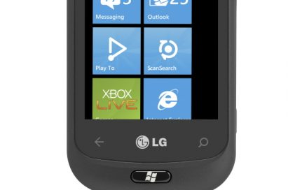 Front view of the closed LG Optimus 7Q
