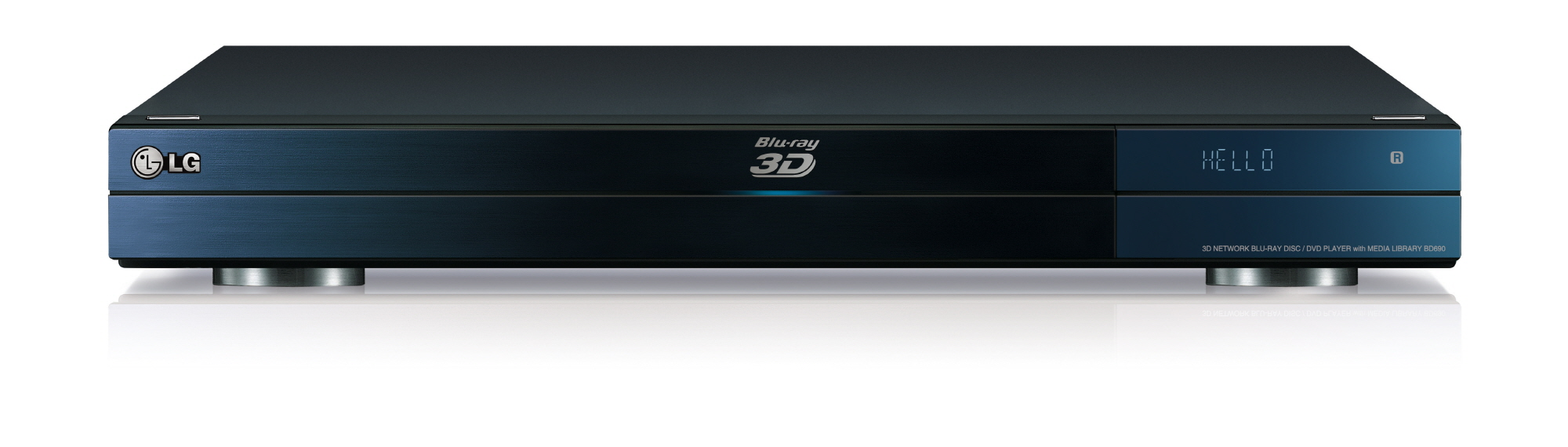 Front view of LG 3D Network Blu-rayTM Disc Player model BD690