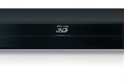 A front view of LG's flagship Full HD 1080p 3D-enabled Network Blu-ray Player model BD690