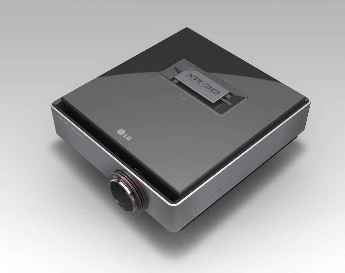 World's first Full HD Dual Engine Single Lens 3D Projector model CF3D_Top View