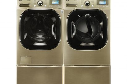 Front view of LG's front-load washing machines