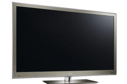 A left-side view of the LG NANO FULL LED HDTV model LW9500