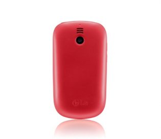 Rear view of the Red LG T500