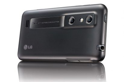 Rear view of LG's OPTIMUS 3D