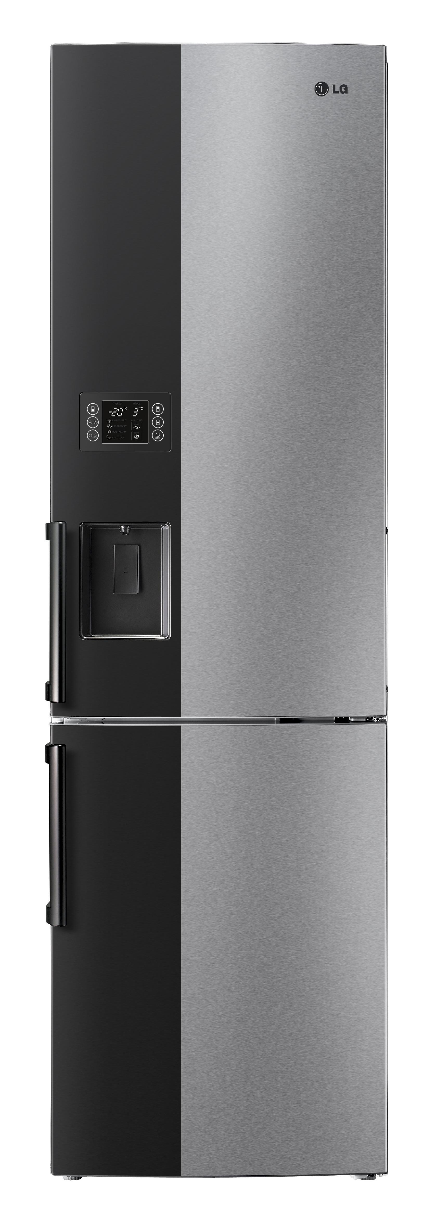 Front view of the LG Large-Capacity Bottom-Freezer refrigerator