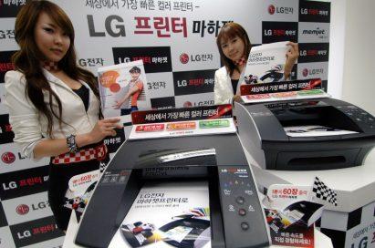 Two models introducing the LG A4 color desktop printer LG Machjet
