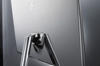 A rear view of LG monitor E2391VR