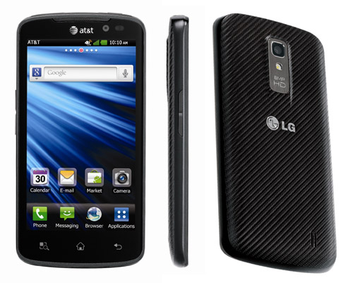 Front, side and rear views of LG Nitro HD