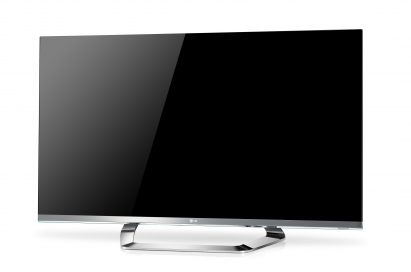 Front view of the LG CINEMA 3D Smart TV with new CINEMA SCREEN Design model LM8600