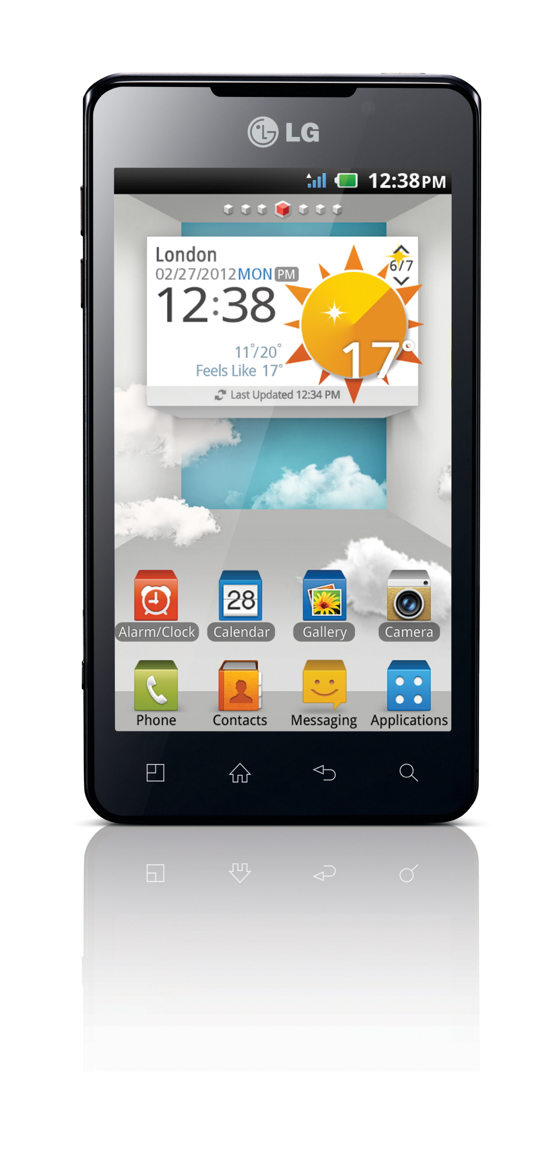 Front view of LG Optimus 3D Max