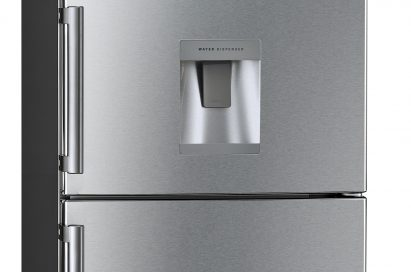 A front view of the LG bottom-freezer refrigerator (model GB5240AVAZ)