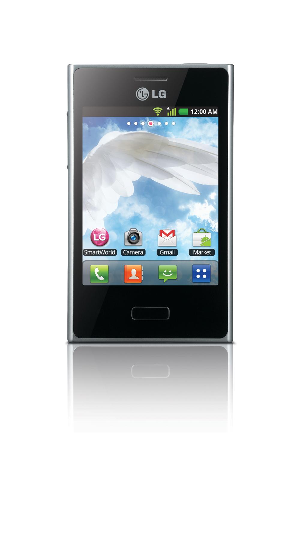 Close view of LG's New Optimus L3 smartphone