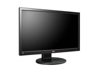 A left-side view of LG cloud monitor P Series model N2311AZ