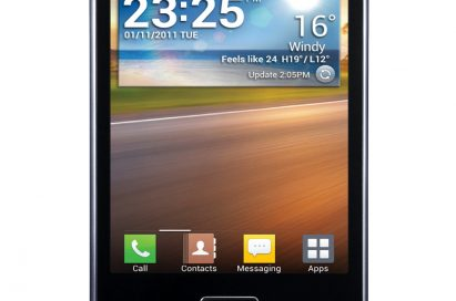Front view of the LG OPTIMUS L5 smartphone