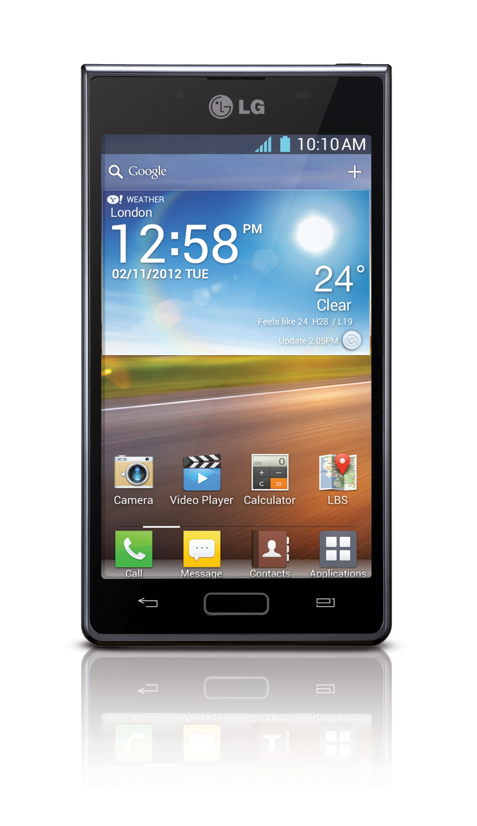 Front view of LG Optimus L7