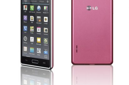 15-degree front and rear views of LG Optimus L7