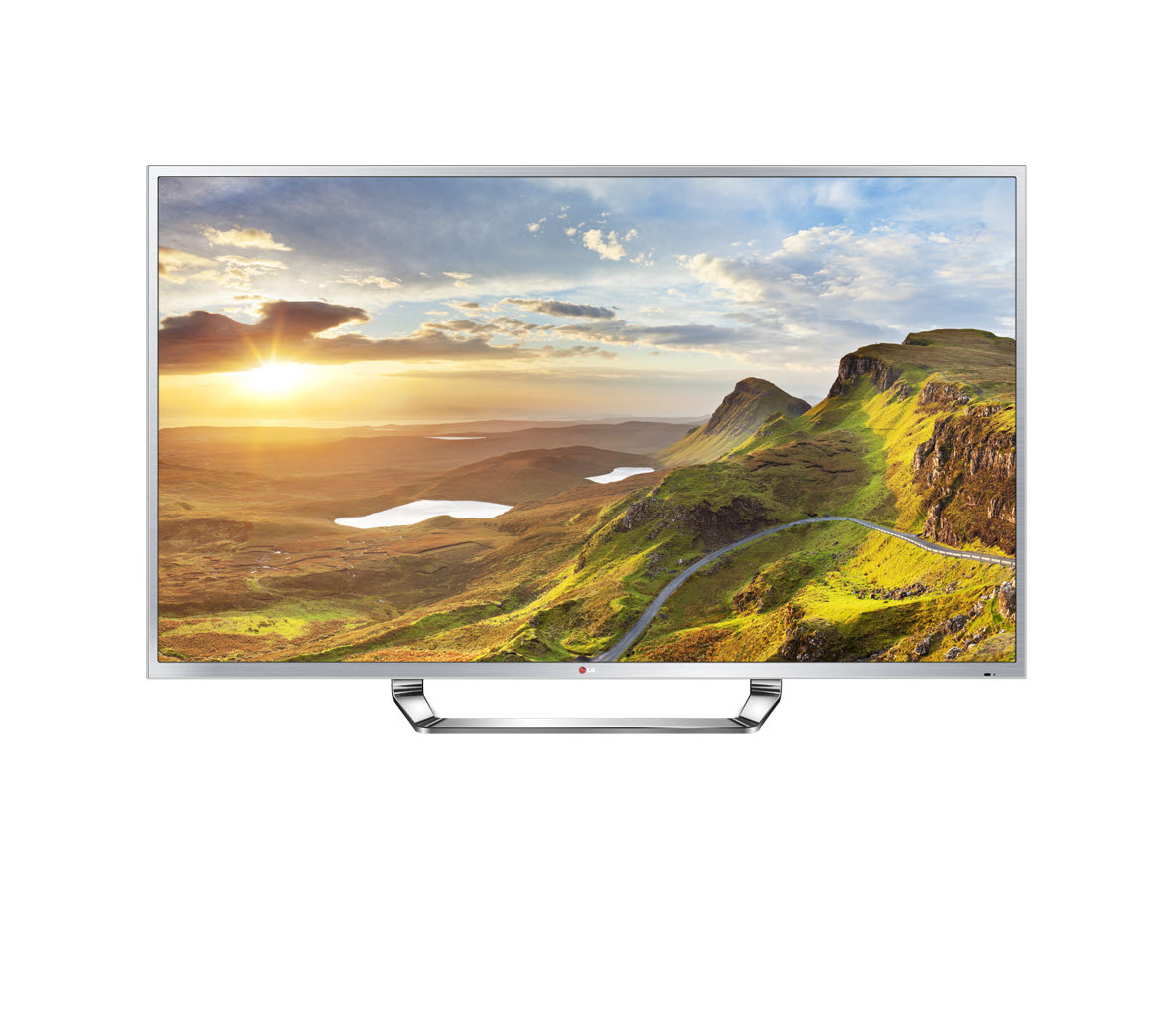 A front view of the LG Ultra HD CINEMA 3D Smart TV (model 84LM9600)