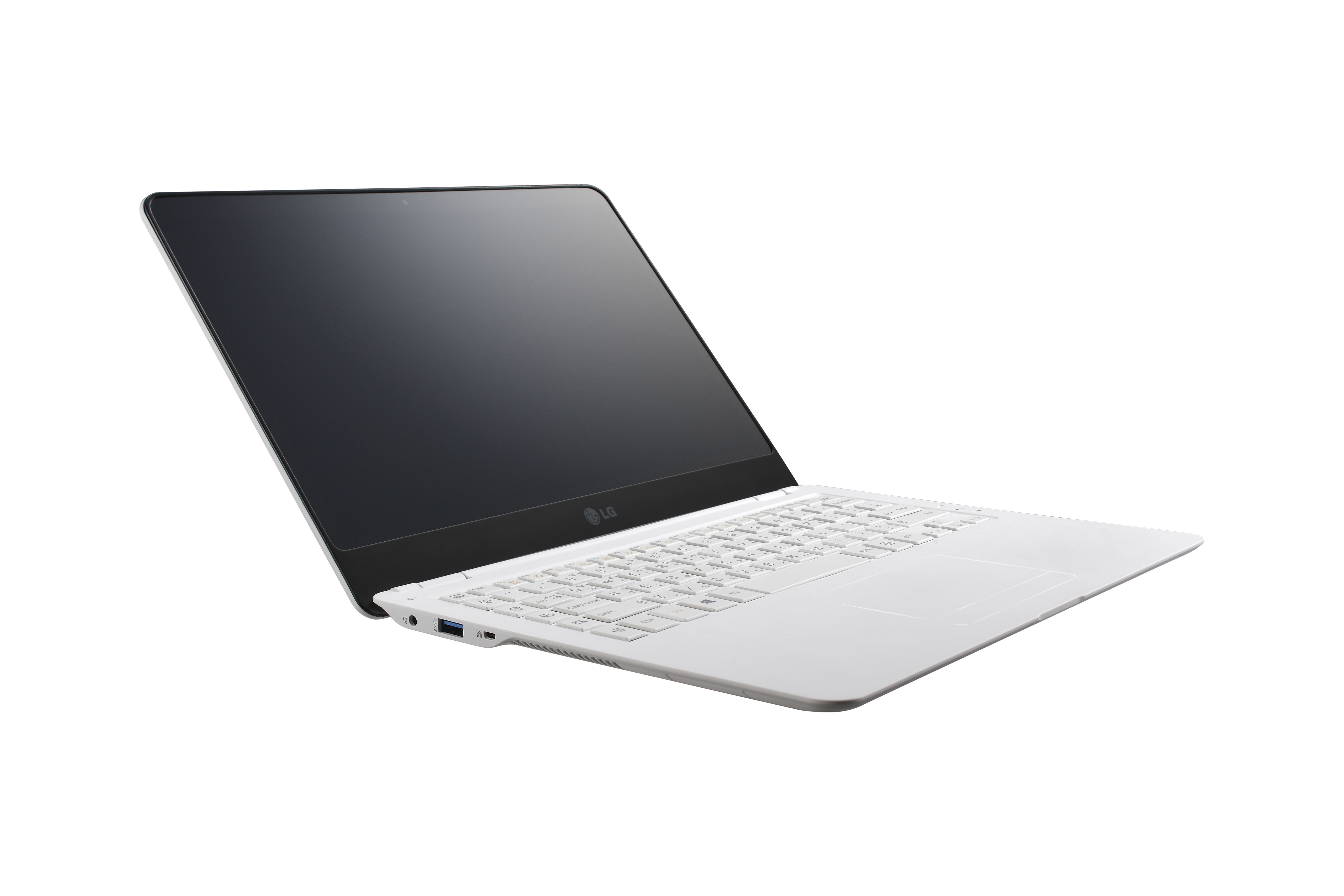 The LG Ultrabook model Z360 with its display open