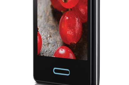 A side view of an inclined LG OPTIMUS L3II