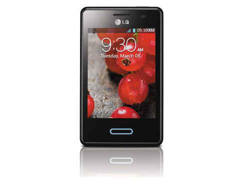 A front view of LG OPTIMUS L3II