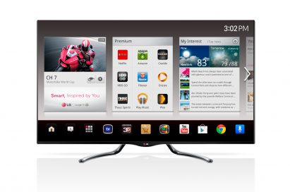 Applications supported by Android 4.2.2 Jelly Bean Operating System demonstrated on the LG Google TV