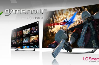The GameNow™ cloud gaming service demonstrated on LG's Smart TV