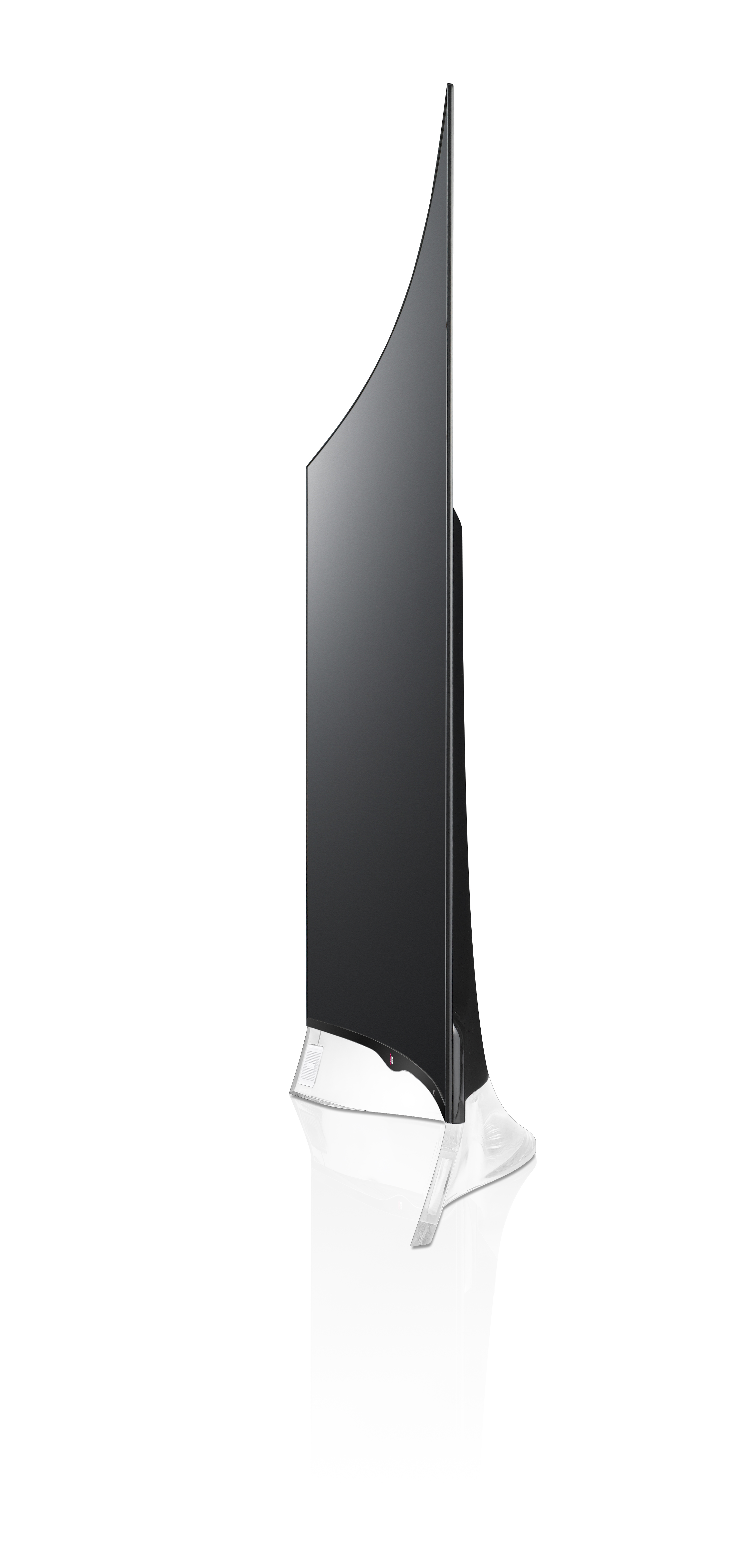 Side view of LG CURVED OLED TV