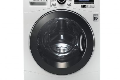 Another view of LG's 12kg front-load washing machine