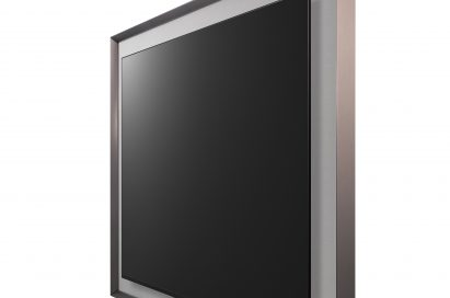 A right-side view of LG GALLERY OLED TV model 55EA8800