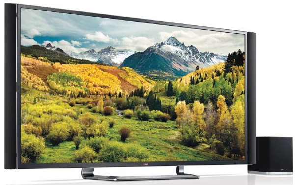 The LG ULTRA HD TV model 84LA9800 displaying a countryside scene on its display