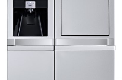 Another front view of the LG side-by-side refrigerator