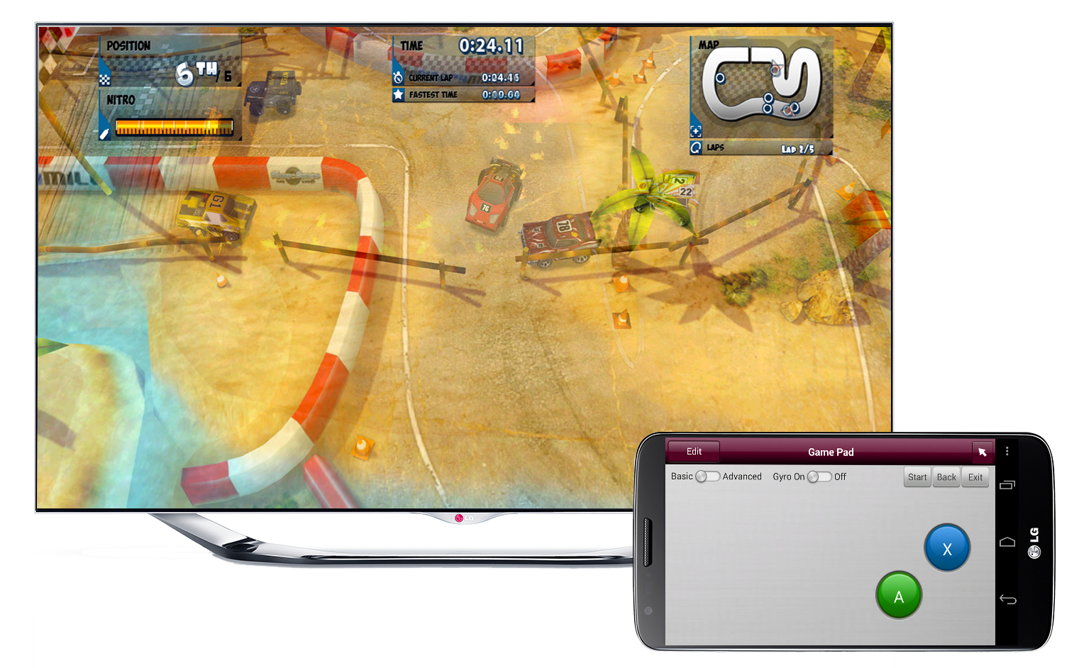 A LG Smart TV and a smartphone operating the AllJoyn open source software framework