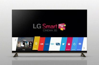 LG Smart TV showing its optimized Smart TV platform webOS