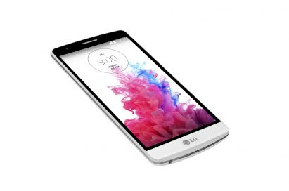 An upper side view of the LG G3 Beat.