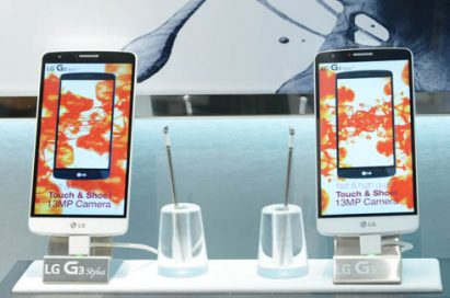LG G3 Styluses are displayed at LG booth at IFA.
