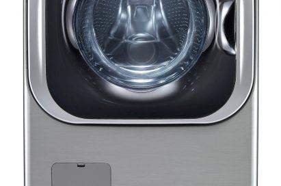 A front view of LG Mega-Capacity TurboWash Clothes Washer model WM8000HVA