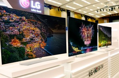 The LG OLED TV Lineup on display at IFA