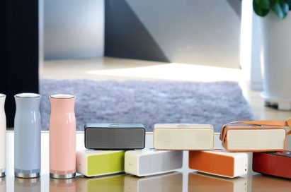 LG SoundPop 360 in three different colors, and the LG Music Flow P5 in seven