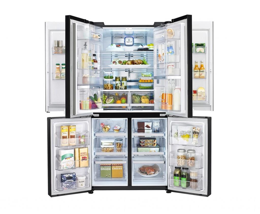 LG double Door-in-Door refrigerator with all the doors opened