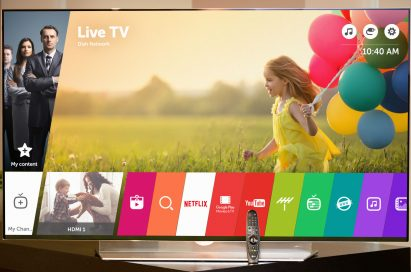 An LG Smart TV operating the LG webOS 3.0 platform