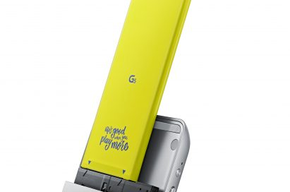 The front, right side view of the LG CAM Plus