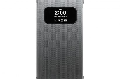 The LG Quick Cover displays the time, date and notifications on the AOD (always-on display)